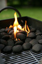 Barbecue charcoals Royalty Free Stock Photography