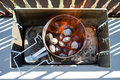 Barbecue coal chimney starter Royalty Free Stock Photo