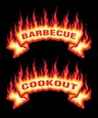 Barbecue Cookout Fire Flames Banner Royalty Free Stock Photo