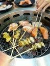 Barbecue coreano Immagine Stock