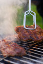 Barbecue detail with metal ton Royalty Free Stock Photo