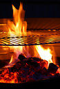 Barbecue Grill flame BBQ Royalty Free Stock Photo