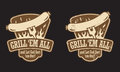 Barbecue Hot Dog Emblem Royalty Free Stock Image