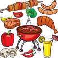 Barbecue icon set Royalty Free Stock Photo