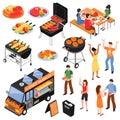 Barbecue Isometric Set