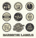 Barbecue labels and icons collection of retro style Stock Images