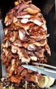Barbecue meat in stack Royalty Free Stock Photo