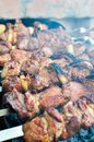 Barbecue palatable meat on the Stock Photo