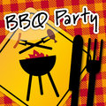 Barbecue party invitation s a cooking method and apparatus to the bbq Royalty Free Stock Images