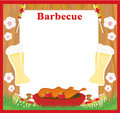 Barbecue Party menu card Invitation Royalty Free Stock Photo