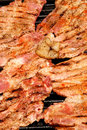 Barbecue with pork meat and bacon Royalty Free Stock Photos