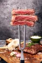 Barbecue Rib Eye Steak, dry Aged Wagyu Entrecote Steak Royalty Free Stock Photo