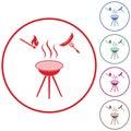 Barbecue sausage icon