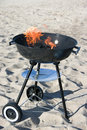 Barbecue sur la plage Photographie stock libre de droits