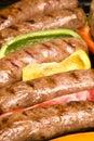 Barbecued bratwurst Royalty Free Stock Photo