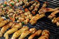 Barbecued food, grill chicken wings on Royalty Free Stock Photo