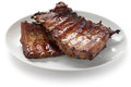 Barbecued pork spare ribs Stock Photo