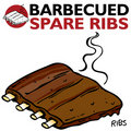 Barbecued Spare Ribs Stock Photos