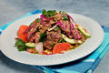 Barbecued steak salad Royalty Free Stock Photo