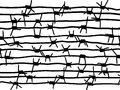 barbed wire. background