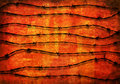 Barbed Wire background over red Stock Image