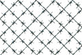 Barbed Wire Fence Pattern Royalty Free Stock Photo