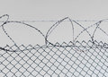 Barbed wire and fence security Royalty Free Stock Image
