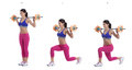 Barbell lunges Royalty Free Stock Photo