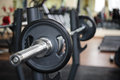 Barbell ready to workout indooors shallow dof Royalty Free Stock Photo