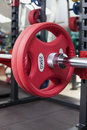 Barbells gym equipment colored Royalty Free Stock Photos
