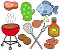 Barbeque collection Stock Photography