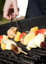 Barbeque fruit skewer Stock Photo
