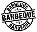 barbeque stamp Royalty Free Stock Photo
