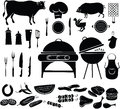 Barbeque icon set vector illustration of items Royalty Free Stock Photography