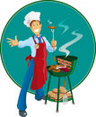Barbeque Man Royalty Free Stock Photo