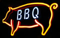 Barbeque neon sign Royalty Free Stock Photo