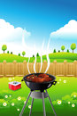 Barbeque party poster a vector illustration of design Stock Image