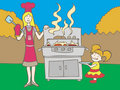 Barbeque Picnic Stock Images