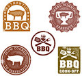 Barbeque Stamps Royalty Free Stock Photo