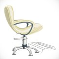 Barber chair on white background Stock Photos