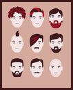 Barber men Royalty Free Stock Images