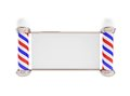 Barber pole d illustrations white background Stock Photo