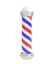 Barber pole d illustrations white background Stock Image