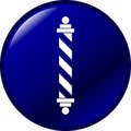 Barber pole vector button Stock Photography