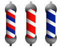 Barber poles Stock Image