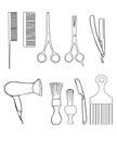 Barber Set of Shop Elements and Shave Icons Illustration hairdresser
