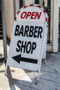 Barber shop a a board Royalty Free Stock Photo