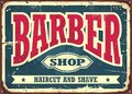 Barber shop hipster haircut and shave vintage sign template Royalty Free Stock Photo