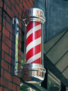 Barber shop pole Stock Photo