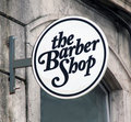 Barber shop sign Royalty Free Stock Images